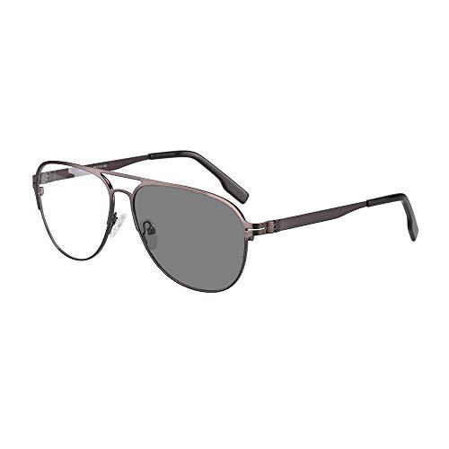 Übergang Photochrome Bifokale Lesebrille Optische Hyperopie Metallrahmen UV400 Sonnenbrille