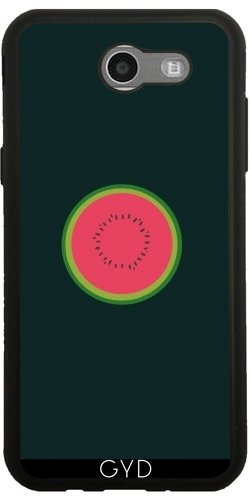 Custodia Silicone per Samsung Galaxy J3 2017 (SM-J327) - Melone Dimezzato by ilovecotton - Verde Melone Seeds