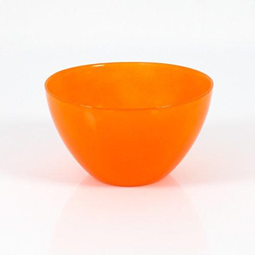 Lot 3 x Coupelle décorative / Coupelle apéritif en verre DORI, orange, 9 cm, Ø 17 cm - 3 pcs Coupelle à tapas / Coupelle déco - INNA Glas