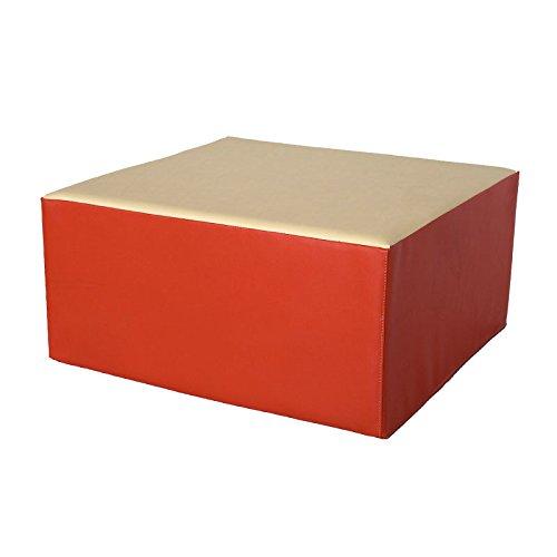 kidunivers–Sitzsack Quadratisch, 60x 60cm aus Schaumstoff für Kinder von 5bis 8Jahre Nanie