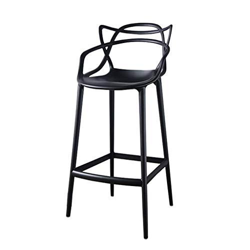 MXXYZ Klappsessel klappstühle Barhocker Café-Restaurant Hohe Rückenlehne im Freien Freizeithocker Bürostuhl (Color : Black) - Kategorie Holz Bürostühle
