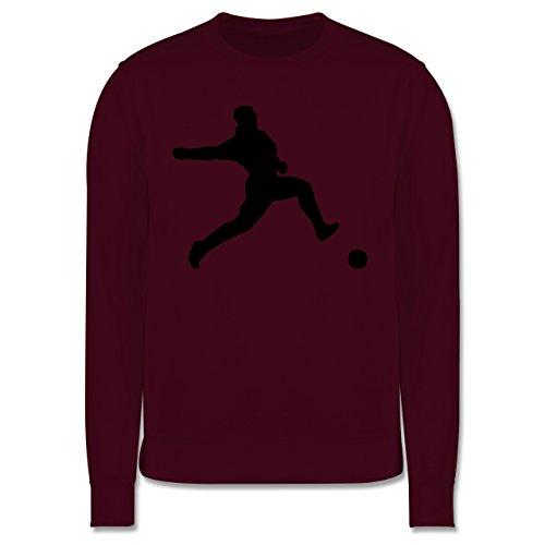 Fußball - Fußball - Herren Premium Pullover Burgundrot