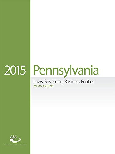 CSC Pennsylvania Laws Governing Business Entities (2015)
