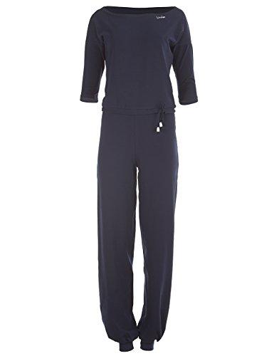 Winshape Damen 3/4-Arm-Jumpsuit WJS2, Fitness Freizeit Sport Yoga Pilates Jumpsuit, Night-Blue, M