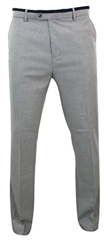 Herrenhose Tweed Design Schwarz Grau Slim Fit 3 Längen Rabatt Preis