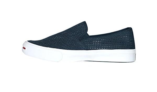 ef5b8ba445b667 Converse Jack Purcell II Slip ON Navy Garnet White Shoes (8)  Amazon.co.uk  Shoes    Bags