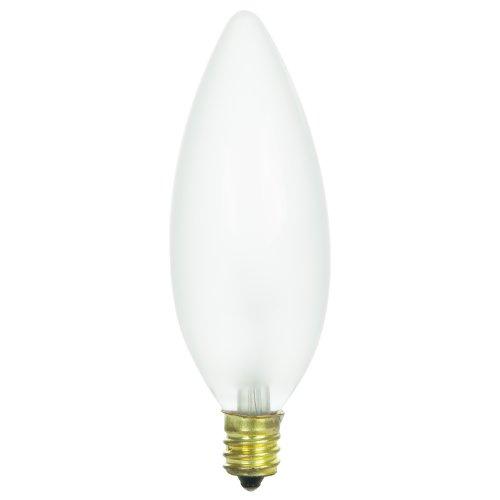 Sunlite Glühlampe 130Volt, Kandelaber, geriffelt, Petite Kronleuchter Glühbirne, Torpedo Spitze, glas, Frost 60 wattsW 130 voltsV