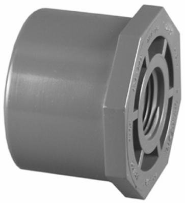3/4 x 1/2-Inch PVC Schedule 80 SPG x FPT Reducer Bushing (Flush Style)