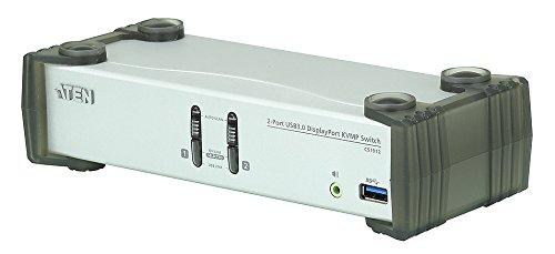 Aten CS1912 2-Port USB 3.0 DisplayPort KVM Switch Silber