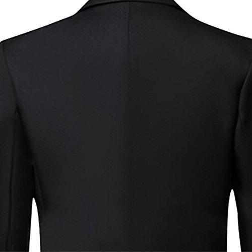 Judi Dench@ Giacche da uomo slim fit tagliare lucido Flash Design Tuxedo Wedding Party 03 Nero