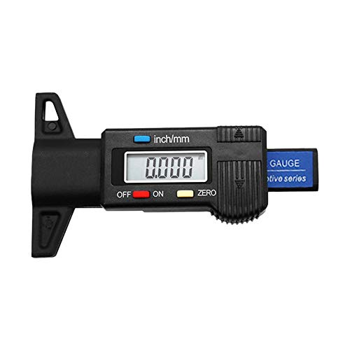 Digital Car Tire Tread Depth Tester 0-25mm Tyre Tread Depth Gauge Meter black Lcd Pole Display