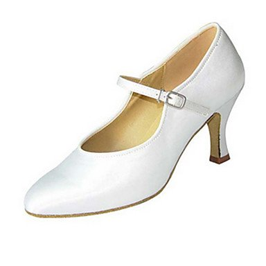 XIAMUO Anpassbare Damen Tanz Schuhe Satin Satin Latin Jazz Modern Swing Salsa Schuhe Sandalen Fersen angepasste HeelPractice Anfänger Schwarz