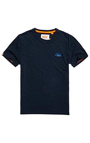 Superdry Herren T-Shirt Orange Label Vintage Emb Tee Blu (Eclipse Navy)
