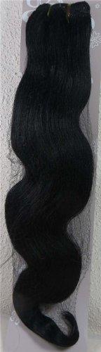 45,7 cm Jet Noir (# 01) trames de cheveux vierges brésiliens Remy ondulés – Tissage 100% Cheveux Humains vierges brut