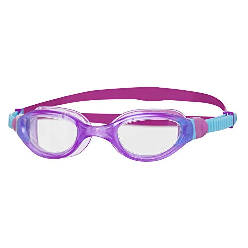 Zoggs Kinder Phantom Curve Junior with UV Protection and Anti-Fog Schwimmbrille, Purple/Blue/Clear, 6-14 Years