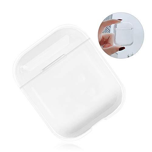 Kompatibel mit Airpods 1 2 Auflade-Schutzhülle, niedlich, transparent, harte Polycarbonat-Schutzhülle, stoßfest, für Apple Airpods, Mädchen, Jungen, Kinder, Frauen, Geschenk, vollständige Schutzhüllen
