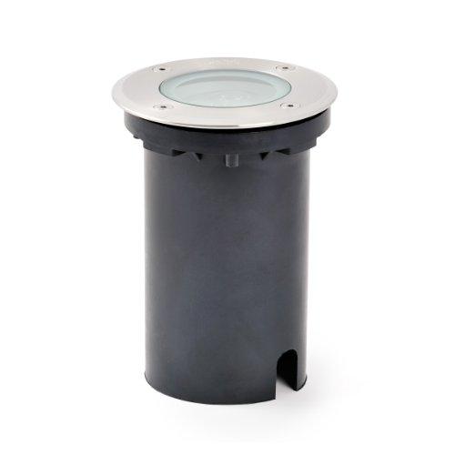 Konstsmide LED Bodeneinbaustrahler 7643-000 / B: 11cm T: 11cm H: 15cm / IP65 / Edelstahl / klares Glas