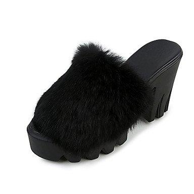 LFNLYX donna tacchi Autunno Inverno Comfort PU Casual Chunky Heel altri Nero Rosso grigio altri Gray