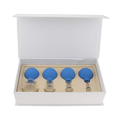 sharprepublic 4 pezzi Tazze per Coppette Sottovuoto per Massaggi Anti-cellulite Impostare Dimensioni Diverse per il Corpo del Viso