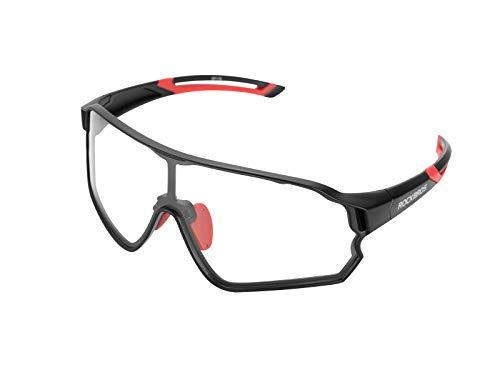 ROCKBROS Fahrradbrille Photochromatisch Sonnenbrille Sportbrille UV 400 für Outdoor-Sport Radfahren Laufen Klettern Angeln Golf