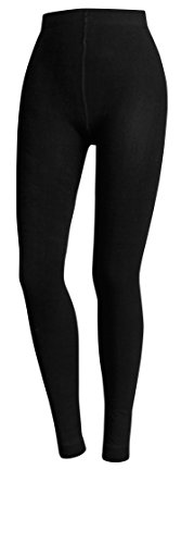THERMO LEGGINGS EXTRA WARM MIT INNENFLEECE STRUMPFHOSE GR. S M L XL (M / 38-40, SCHWARZ) - Fleece Leggings