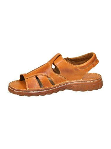 Pour Homme Reel Cuir De Bison En Forme Orthopedique Chaussures Sandales Modele 835 Cognac