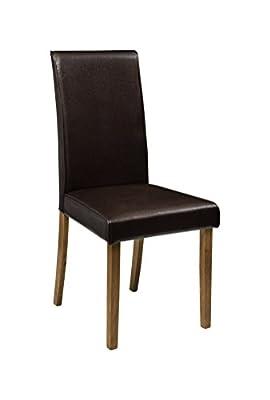 Julian Bowen Hudson Finish Dining Chairs, Set of 2, Brown/Oak - low-cost UK light store.