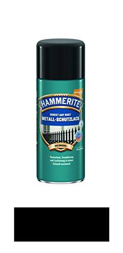 Preisvergleich Produktbild 400 ml Hammerite Direkt auf Rost Metall-Schutzlack Spray Schwarz, Matt