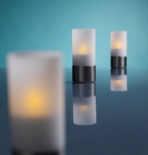 Hartig + Helling LED37 LED-té de acero inoxidable pie conjunto de 3