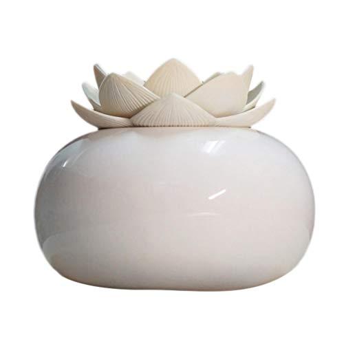 TTMall Diffusore Di Aromi Umidificatore In Loto Ceramico L'Olio Essenziale Aromatico Evapora...