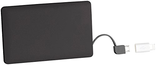 reVolt Powerbank Mini: Powerbank im Kreditkarten-Format, 2.500 mAh, Micro-USB & 8-Pin-Adapter (Powerbank Kreditkartenformat)