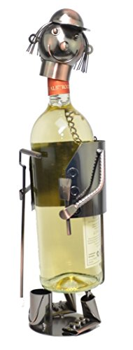 Flaschenhalter Flaschenständer Weinständer Weinhalter Maler Metall Kupfer