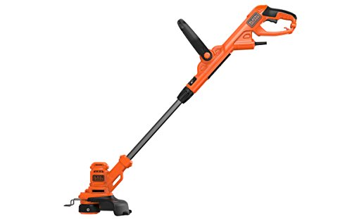 BLACK+DECKER BESTA525-QS Coupe-bordures filaire - Vitesse de coupe variable Eco-Turbo 450W, Noir, 25...