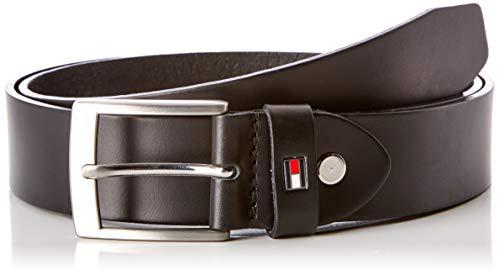 Tommy Hilfiger Adan Leather Belt 3.5 Adj Cintura, Nero (Black 002), 8 (Taglia Produttore: 100) Uomo