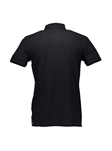 Polo Shirt Herren Cesare Paciotti Shirt Men Short Sleeves cp12ps # 1 Schwarz