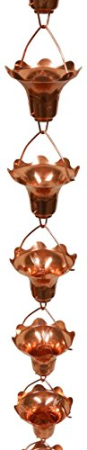 Stanwood OT-RC8 8 ft Hummingbird and Flower Decor - Copper