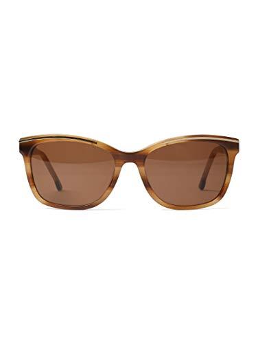 TOM TAILOR für Frauen Eyewear Sonnenbrille mit Streifenmuster hell braun struk.-gold, OneSize