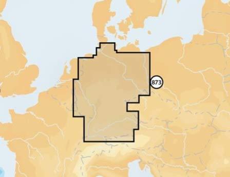 Navionics Deutschland Inland (Region 5G873S2), Kartenart:SD/MicroSD-Karte