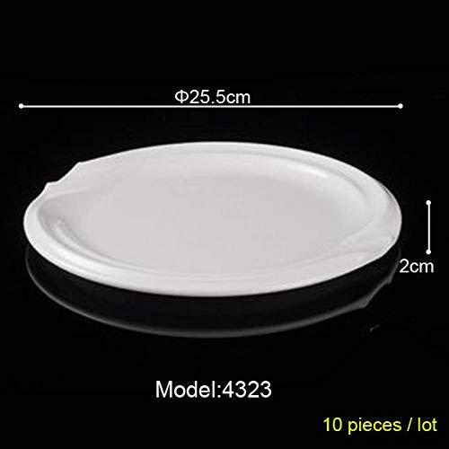 CJUERLS Geschirr Service Plate Dish Melamine Dinnerware Round Flat Plate Chain Restaurant Melamine Dishes Melamine Tableware Dinner Plate Rice Dish,4323 Service Plate
