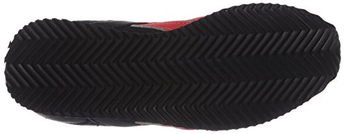 Reebok Royal Classic Jogger, Sneakers basses mixte enfant Noir (Black/Red Rush/White)