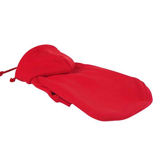 YiJee Haustier Sweatshirt Warme Mantel Hoodie Hundekleidung für Kleine Hund Rot 2XL