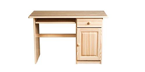 Schreibtisch Kiefer massiv Vollholz natur 002 - Abmessung 74 x 115 x 55 cm (H x B x T)