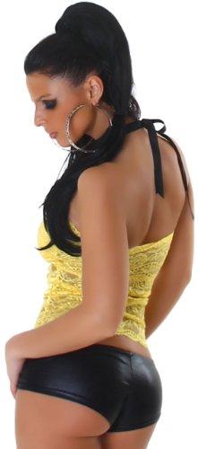 P. F. haut bandeau rembourré pour femme avec dentelle Yellow - Yellow