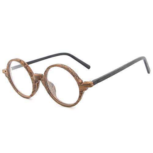 Yiph-Sunglass Sonnenbrillen Mode New Plate Holzmaserung Rahmen Retro Kunst Neue Gläser Flut Menschen Flache Gläser Rahmen männlich (Color : Brown Frame Black Legs)