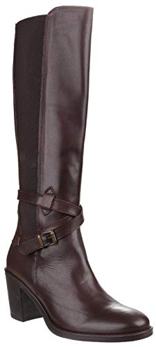 Riva Damen Turin Stiefel mit Reißverschluss (38 EU) (Braun)
