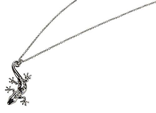 Blue Bug Halskette Gecko mit 8 Steinen in Etui