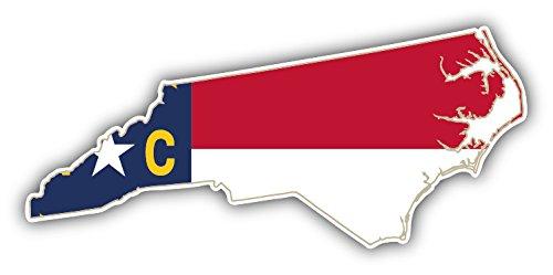 North Carolina USA State Map Flag Auto-Dekor-Vinylaufkleber 15 X 8 cm