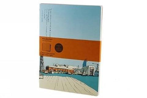 Moleskine Cover Art Chinese Market Ruled Journal