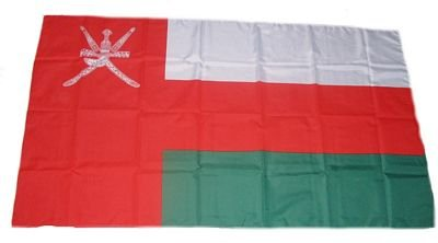 Preisvergleich Produktbild Fahne / Stockflagge Oman 30 x 45 cm Flagge