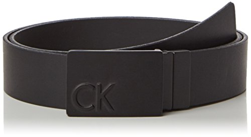 Calvin Klein Jeans Power CK Plaque Rev. 1, Cintura Uomo, Nero (Black 001), 100 cm